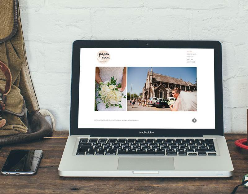 Website Design - Paper & Pearl Photography