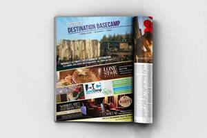 Magazine Advert Design - Basecamp Wanaka