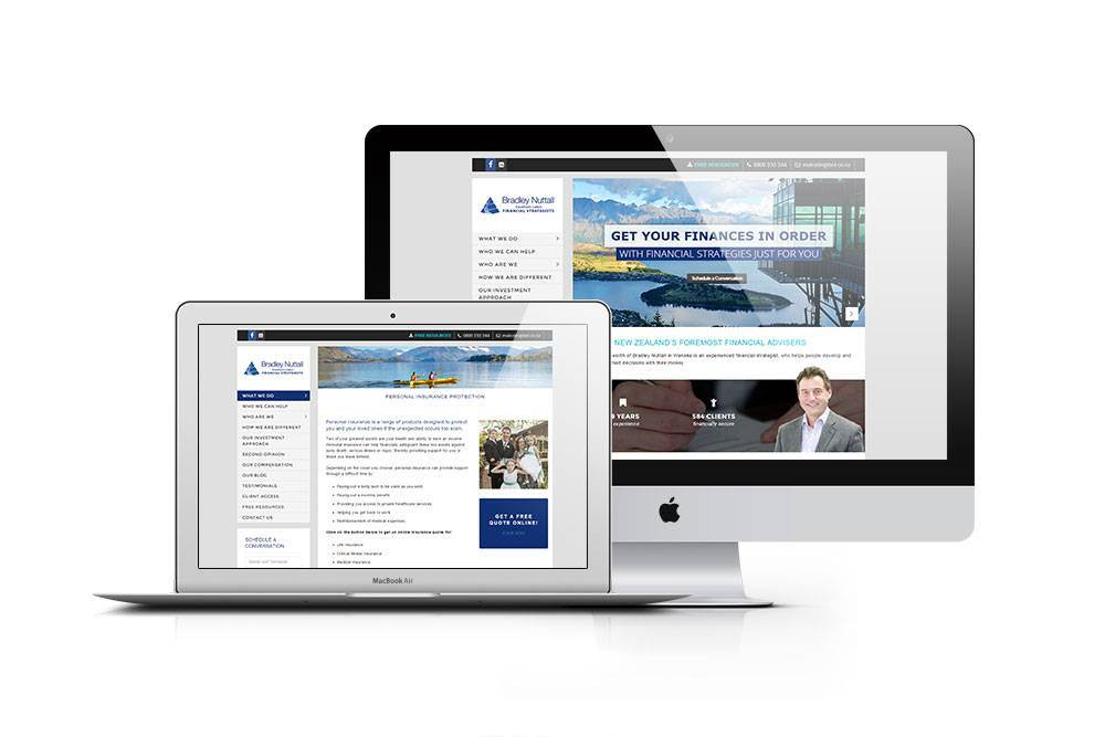 Website Design - Bradley Nuttall Southern Lakes