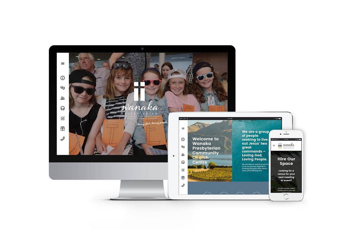 Website Design - Wanaka Presbyterian Community Church Centre