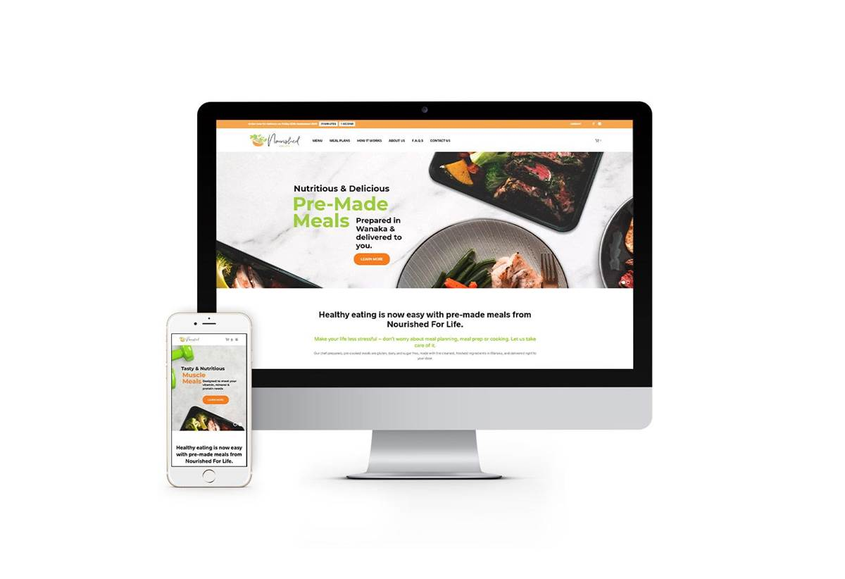 E-commerce Website Design - Nourished For Life
