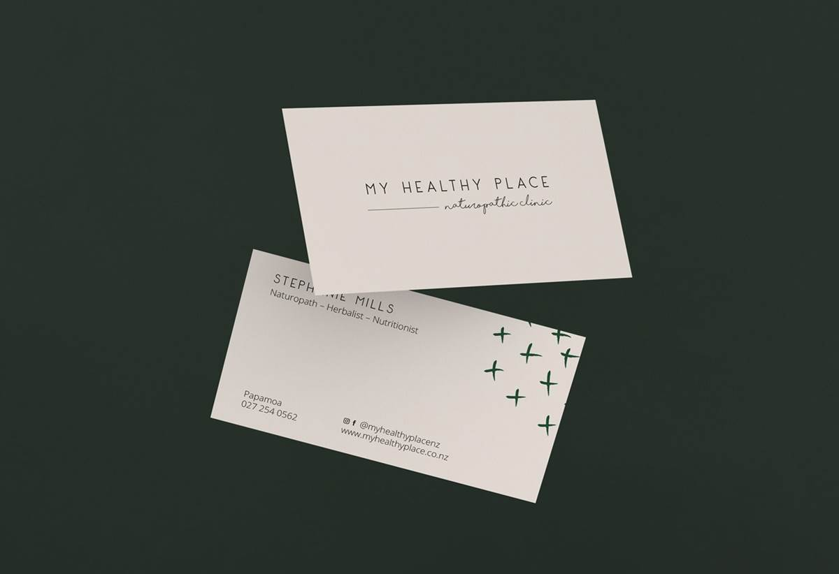 My Healthy Place - Tauranga Logo and business card Design