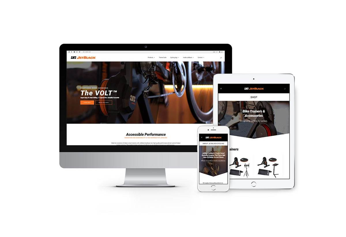 E-Commerce Website Design - JetBlack Cycling