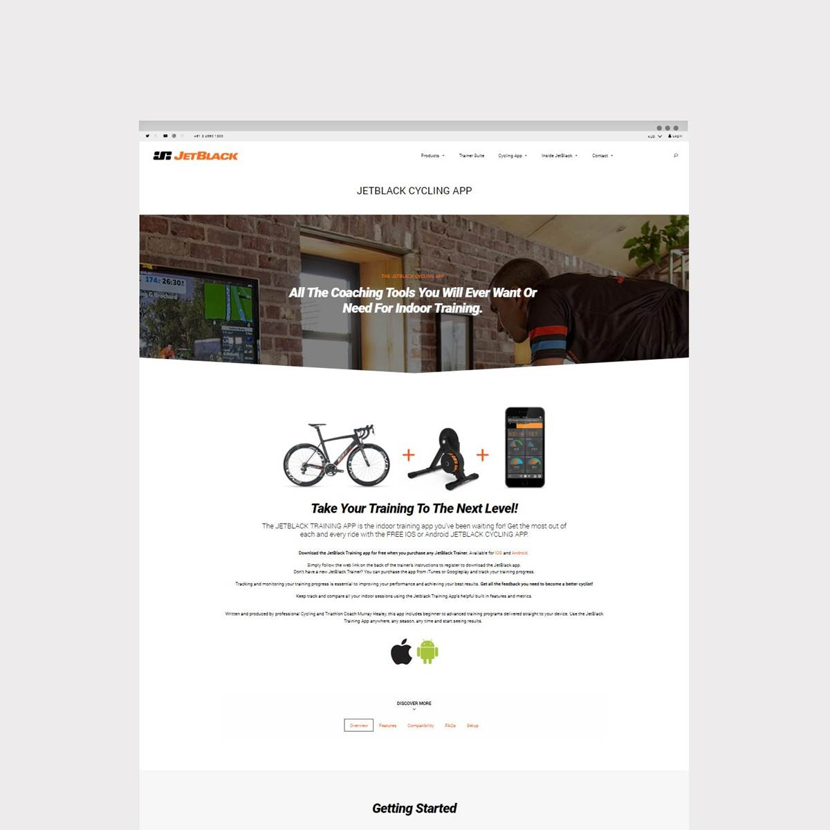 E-commerce web design for JetBlack Cycling by Envy Web + Design