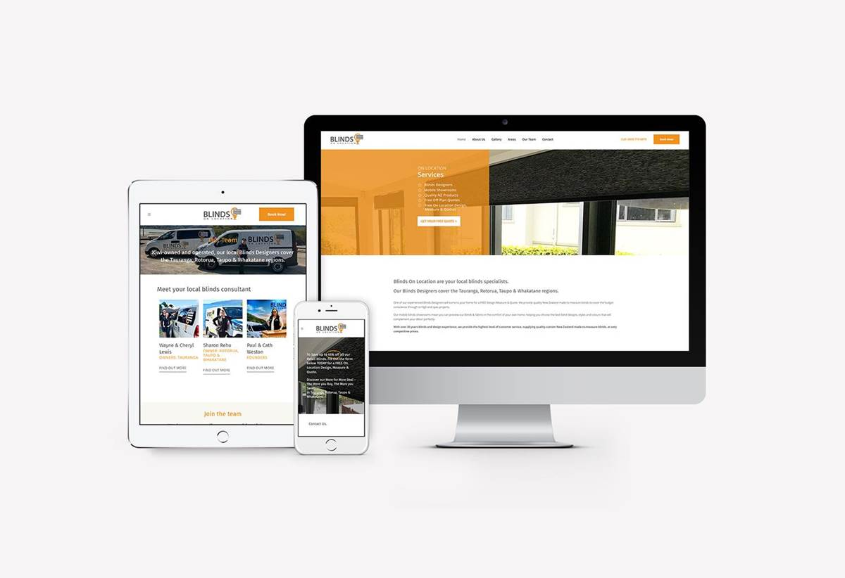 Website Redesign - Blinds On Location