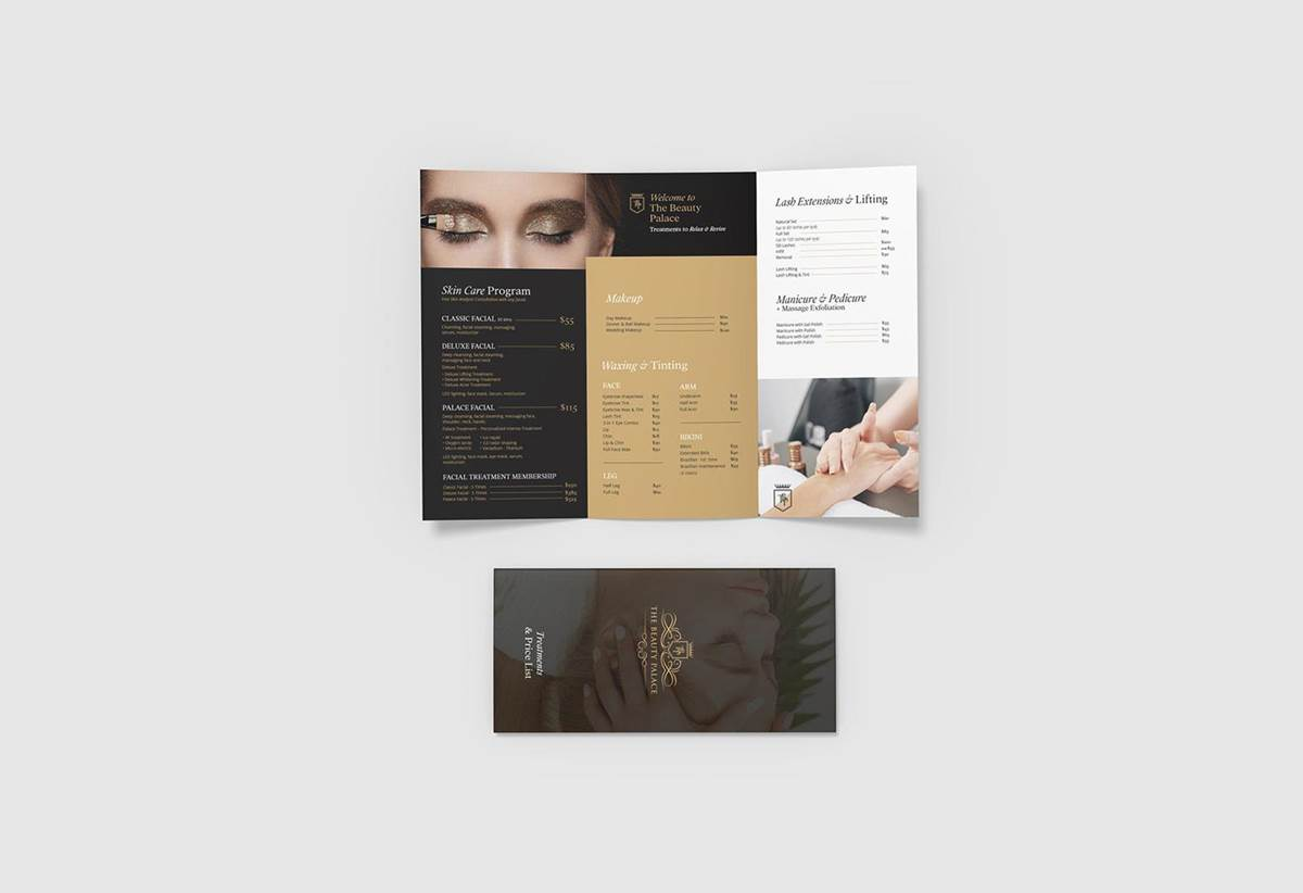 Trifold Flyer Design - The Beauty Palace