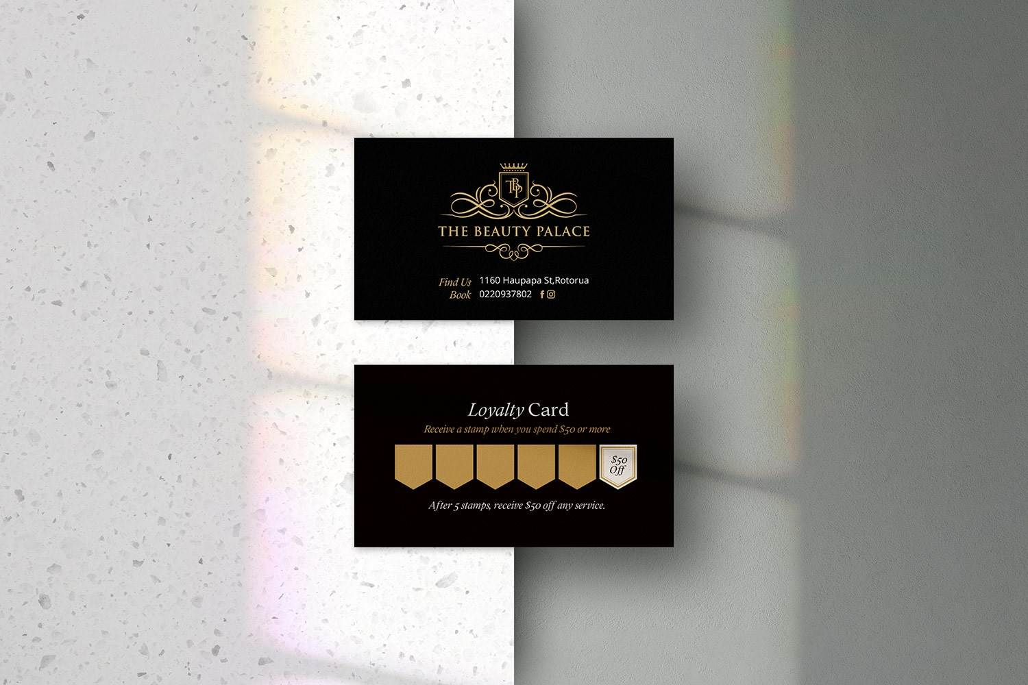 Loyalty card design Rotorua - The Beauty Palace