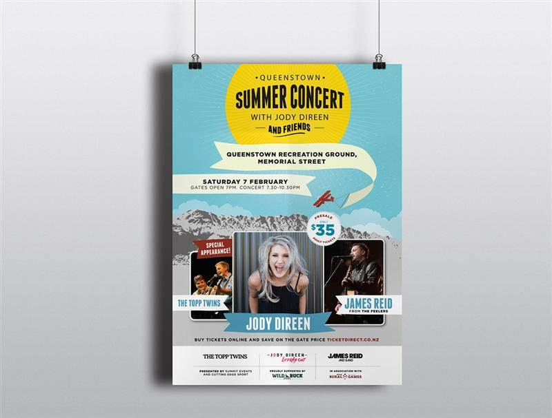Poster & Advert Design - Queenstown Summer Concert