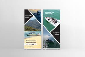 Pull Up Banner Design - Osprey Boats